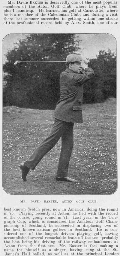 Acton Golf Club, London. Picture of David Baxter a plus one golfer played at Acton.
