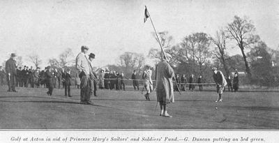 Acton Golf Club, London. Professionals at Acton for the Princess Mary Christmas Fund in November 1914.