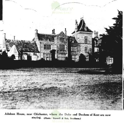 Adsdean Golf Club, Chichester. Adsdean House Evening News September 1935.