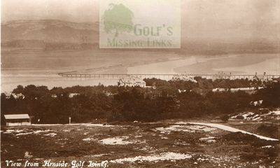 The Arnside Golf Club course and clubhouse.