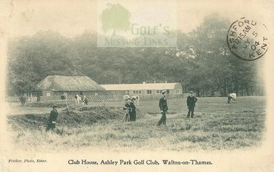 Ashley Park Golf Club, Walton-on-Thames. Clubhouse and Course.