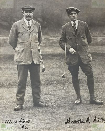 Ashton-on-Ribble Golf Club, Preston, Lancs. Alex Herd and Harold H Hilton exhibition mach in January 1911 .