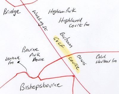 Barham Downs golf course map