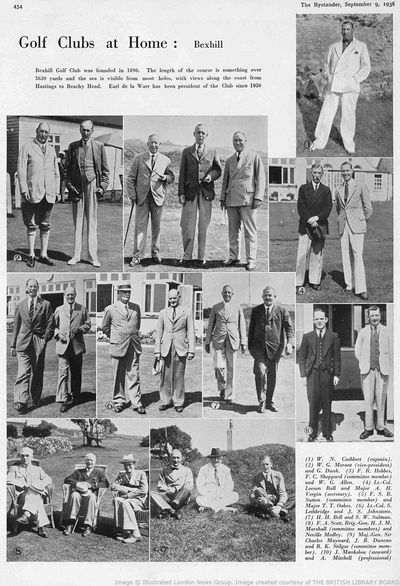 Bexhill-on-Sea Golf Club, Sussex. Golf Clubs at Home from the Bystander in September 1936.