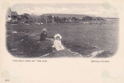 Bexhill on Sea Golf Club, Sussex. Early 1900s postcard of the course.