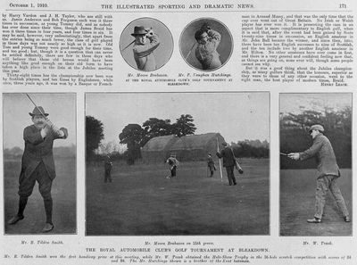 Bleakdown Golf Club, Byfleet, Surrey. Illustrated Sporting & Dramatic News October 1910.