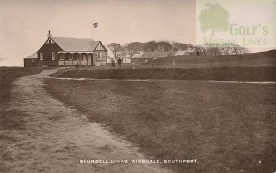 Blundell Golf Club, Ainsdale, Southport. The clubhouse and course.