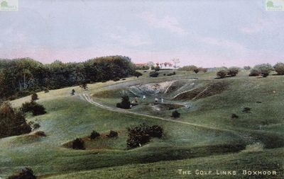 Boxmoor Golf Club, Hemel Hempstead, Herts. The seventh hole in 1906.