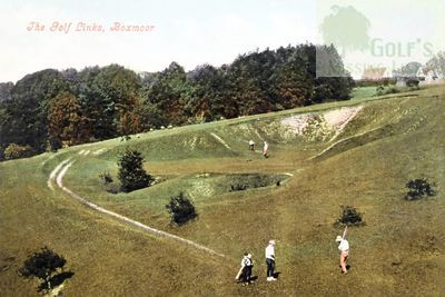 Boxmoor Golf Club, Hemel Hempstead. The seventh hole in the 1930s.