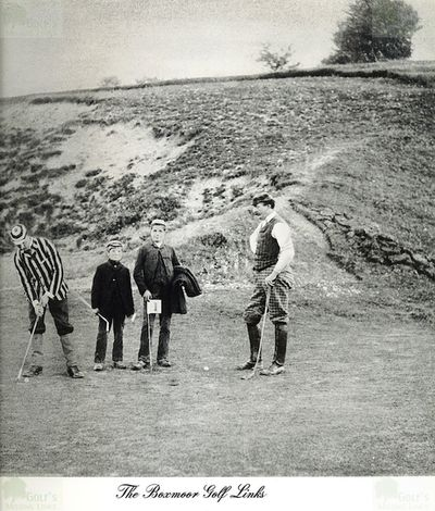 Boxmoor Golf Club, Hertfordshire. Early picture of players and caddies at Boxmoor.
