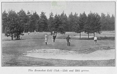 Bramshot Golf Club, Hampshire. Article from Illustrated Sporting Dramatic News June 1913.