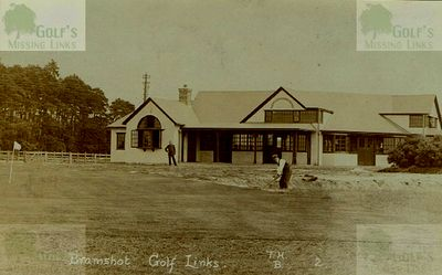 Bramshot Golf Club, Hants. The Clubhouse and course pre WW1.