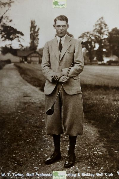Bromley and Bickley Golf Club, Kent. Picture of Willie Twine professional at the club in the 1930s.