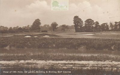 Bromley and Bickley Golf Club, Kent. View of the 222 yard eleventh hole.