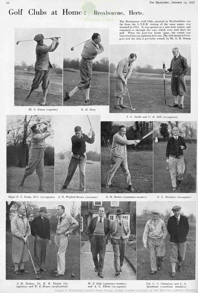 Broxbourne Golf Club, Herts. Article from The Bystander in January 1937.
