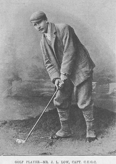 Cambridge University Golf Club. J L Low Captain of the C.U.G.C. in 1892