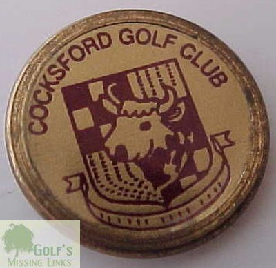 Cocksford Golf Club, Tadcaster. Ball marker.