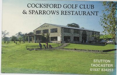 Cocksford Golf Club, Keighley, Yorkshire. Scorecard for the 27-hole complex in 1997.