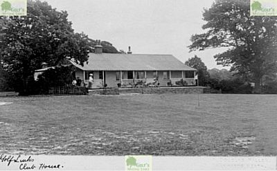 Cuckfield Golf Club, Haywards Heath. Picture showing the earlier clubhouse.