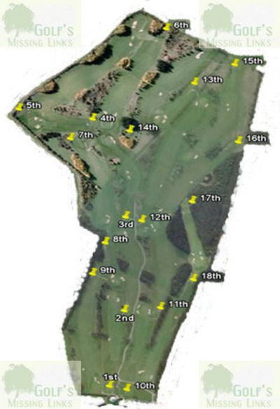 Deangate Ridge Golf Club, Medway. Golf course layout.