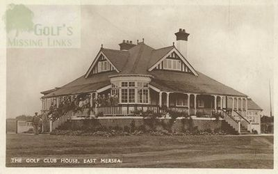 Mersea Island Golf Club, Essex. The Clubhouse.