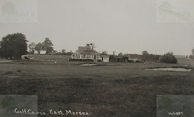 Mersea Island Golf Club, Essex. The golf course and clubhouse.