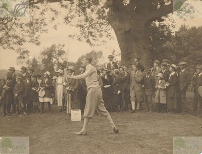 Easton Hall Golf Course, Grantham. Roger H Wethered driving at Easton Hall.