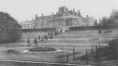 Easton Hall Golf Course, Grantham. The Hall was requisitioned during WW2 and demolished in 1951.