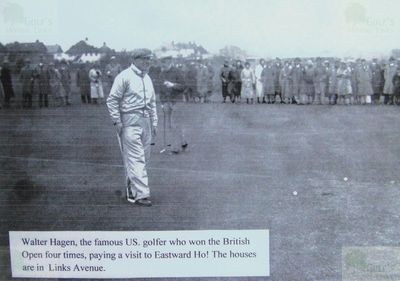 Eastward Ho! Golf Club, Felixstowe, Suffolk. Walter Hagen on the Eastward Ho! golf course.