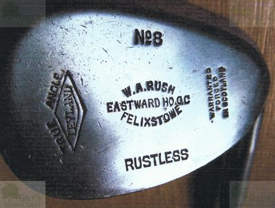 Eastward Ho! Golf Club, Felixstowe, Suffolk. Golf club marked W A Rush Felixstowe.