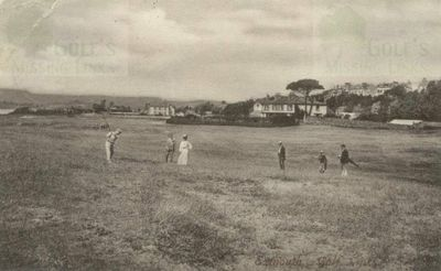 Exmouth Golf Club, Devon. Early postcard of the course.