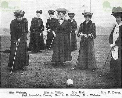 Fulshaw Golf Club, Wilmslow. Group of ladies at the opening of the course.