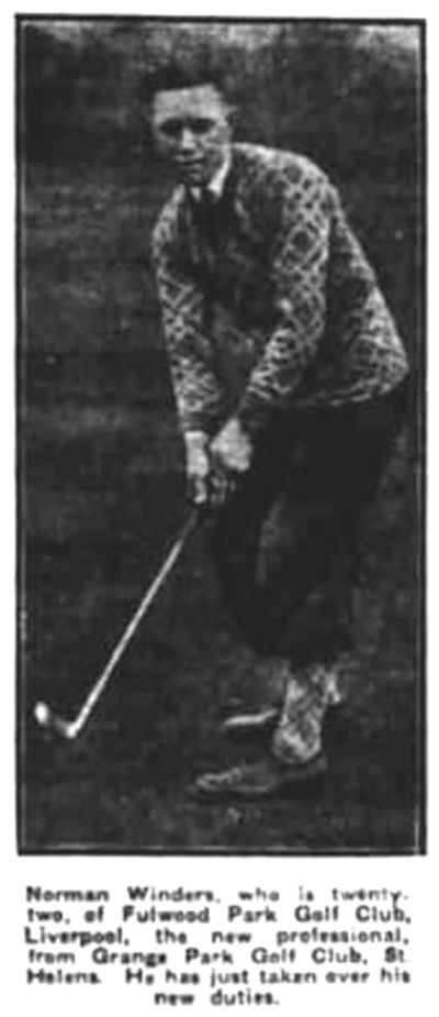 Fulwood Park Golf Club, Liverpool. Picture of Norman Winders the new professional in April 1930.