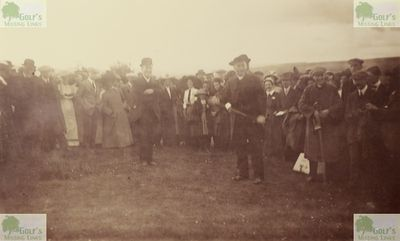 Gilsland Golf Club, Cumbria. The opening of the golf course in June 1912.