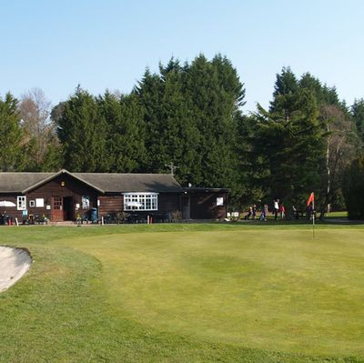 Goal Farm Golf Club, Pilbright, Surrey. The clubhouse and course.