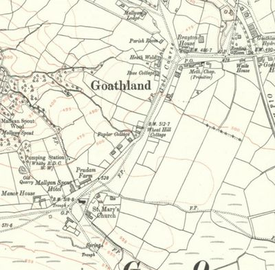 Goathland Golf Club, North Yorkshire. The golf course marked on the 1915 Ordnance Survey Map.