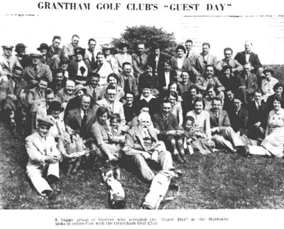 Grantham Golf Club, Harrowby, Lincs. Guest Day on the Harrowby course in June 1936..