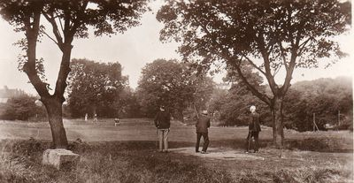 Hall Garth Golf Club, Hornsea, Yorkshire. Players on the golf course.