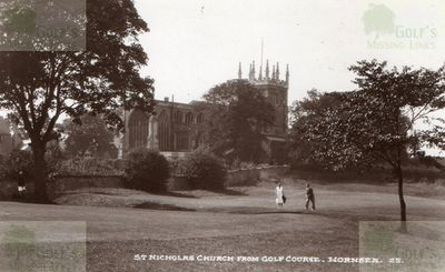 Hall Garth Golf Club, Hornsea, Yorkshire. The course and St Nicholas Church.
