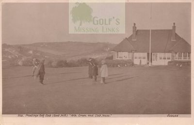 Hastings and St Leonards Golf Club. The eighteenth green.