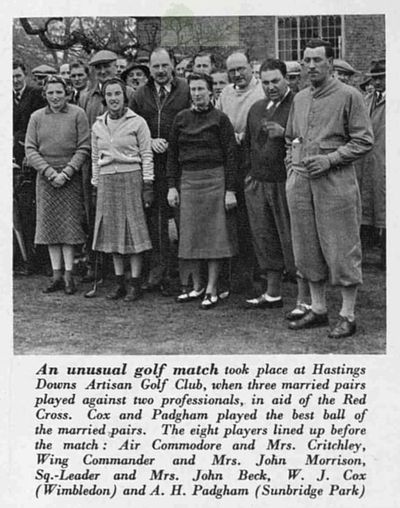 Hastings Downs Golf Club, Sussex. Article from The Bystander May 1940.