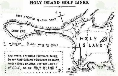 Holy Island Golf Club, Northumberland. Location of the James Braid course in 1908.