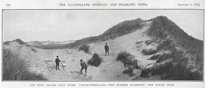 Holy Island Golf Club, Northumberland. From The Illustrated Sporting Dramatic News January 1913.