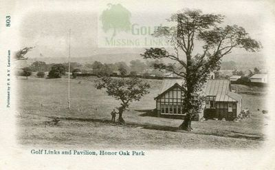 Honor Oak & Forest Hill Golf Club, London. The course and pavilion.