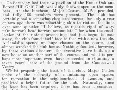 Honor Oak & Forest Hill Golf Club, London. Illustrated & sporting Dramatic News July 1904.