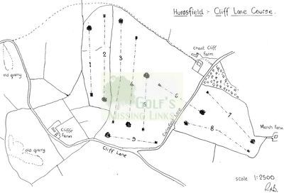 Hurdsfield Golf Club, Macclesfield, Cheshire. Layout of the Cliff Farm course.
