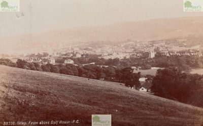 Ilkley Moor Golf Club, West Yorkshire. Picture of the Ilkley Moor course in the 1900s.