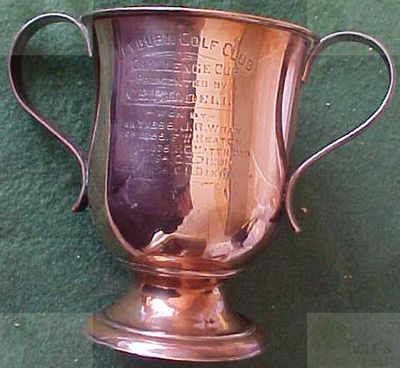 Leyburn Golf Club, North Yorkshire. The C E Riddell Silver Cup.