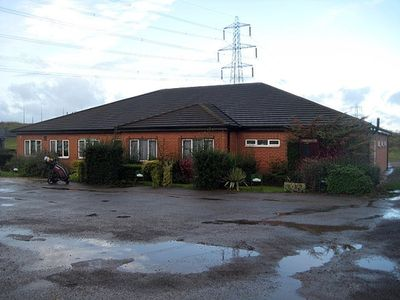 Lofthouse Hill Golf Club, Wakefield, Yorkshire. The clubhouse.