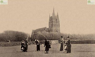 Lytham and St Annes Golf Club, Lancashire. Picture showing the ladies' course in the 1890s.